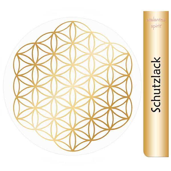 Aufkleber GOLD mit Schutzlack | Blume des Lebens ohne Außenkreise