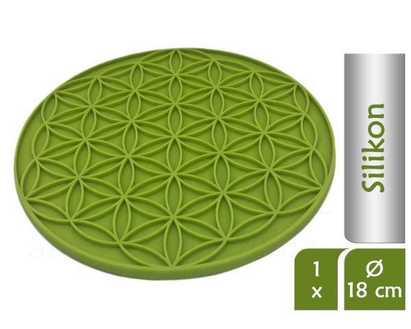 Blume des Lebens Topfuntersetzer FRESH | Farbe grün