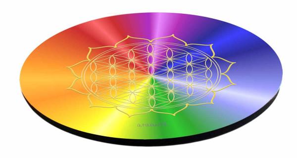 HerzBlume des Lebens Untersetzer | Farbe rainbow | alle Chakren | designed by atalantes spirit®