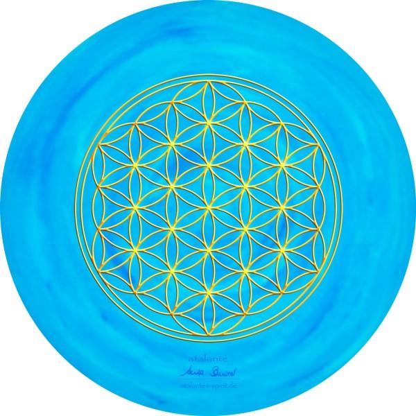 Blume des Lebens Mauspad | Farbe hellblau | Kehlchakra | Hals-Chakra | designed by atalantes spirit®