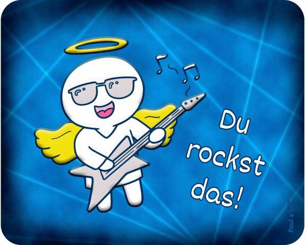 Mutmach-Mauspad Set - Schutzengel Rocking Paul