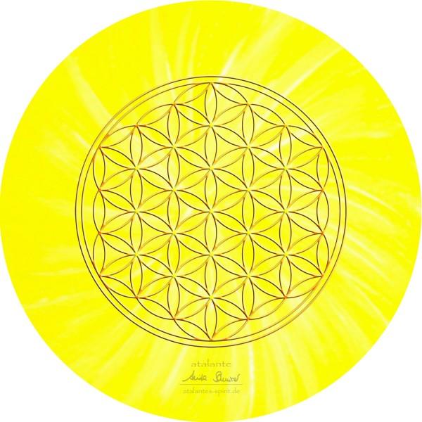 Blume des Lebens Mauspad | Farbe gelb | Solarplexus | designed by atalantes spirit®