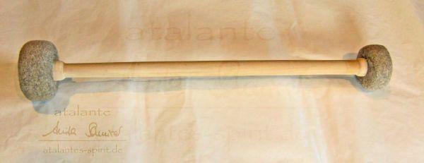 Doppel-Filzschlägel für Klangschalen - Holzgriff - 39 cm