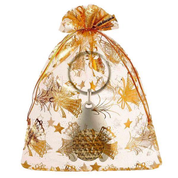 Blume des Lebens Schlüsselanhänger mit Glücksmünze | Farbe BiColor | Geschenkverpackung Weihnachten | designed by atalantes spirit®
