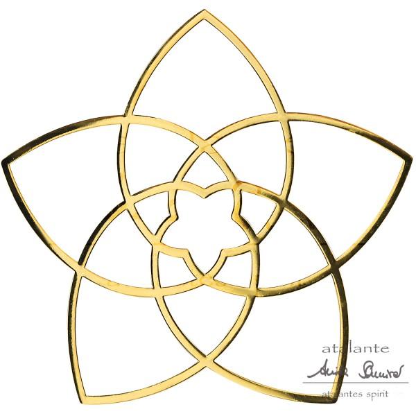 Venusblume EnerChrom® Metall-Aufkleber | Farbe gold | designed by atalantes spirit®