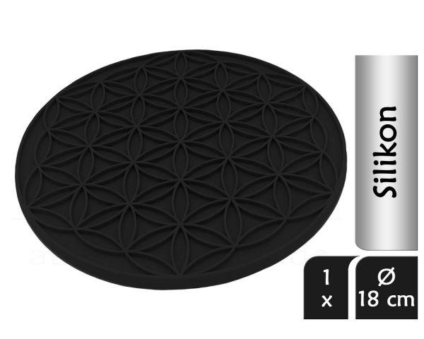 Blume des Lebens Topfuntersetzer ENERGY | Farbe schwarz