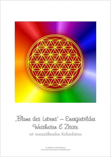 Blume des Lebens Energiebilder-Kalender, immerwährend | DIN A4 | Deckblatt | designed by atalantes spirit®