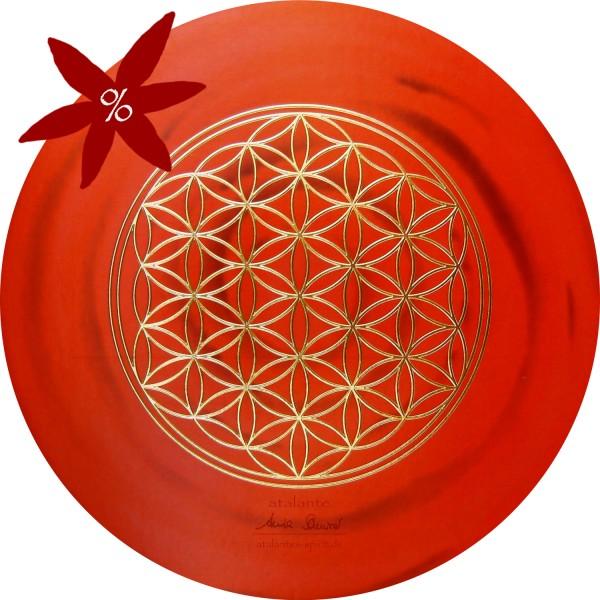 Blume des Lebens Mauspad | Farbe rot | Wurzelchakra | II. Wahl | designed by atalantes spirit®