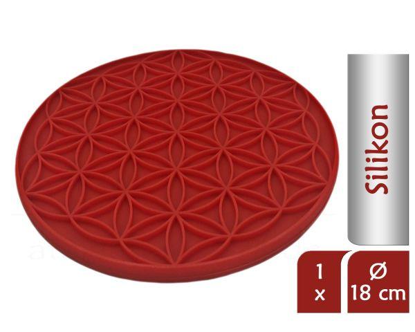 Blume des Lebens Topfuntersetzer ENERGY | Farbe rot