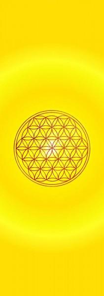 Blume des Lebens Lesezeichen | Motiv: Solarplexus - gelb | designed by atalantes spirit®