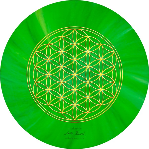 Blume des Lebens Mauspad | Farbe grün | Herzchakra | designed by atalantes spirit®