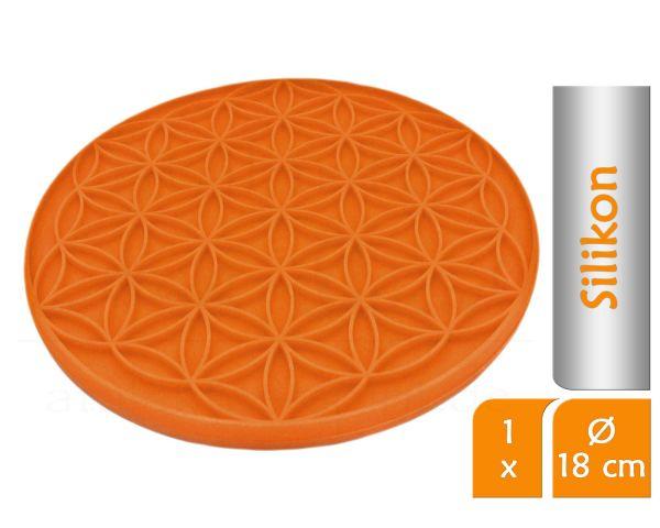 Blume des Lebens Topfuntersetzer SUNRISE   Farbe orange