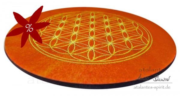 Blume des Lebens Untersetzer | Farbe orange | Sakralchakra | II. Wahl | designed by atalantes spirit®
