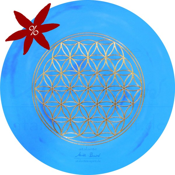 Blume des Lebens Mauspad | Farbe hellblau | Kehlchakra | Hals-Chakra | II. Wahl  | designed by atalantes spirit®