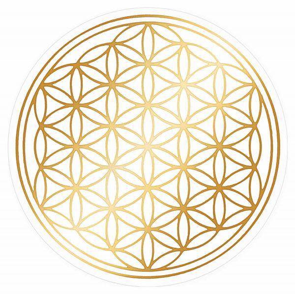 Aufkleber SET GOLD mit Schutzlack | Blume des Lebens
