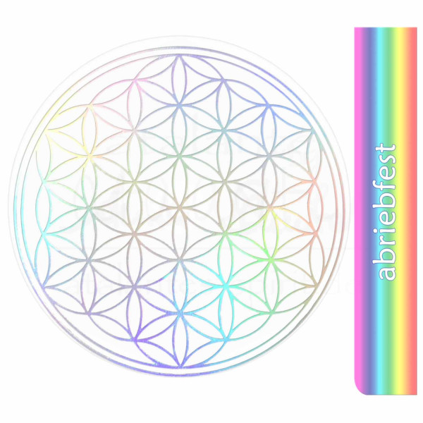 Blume des Lebens Aufkleber - Prägung auf Transparentfolie - abriebfest | Hologramm | designed by atalantes spirit®