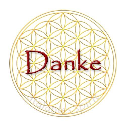 Aufkleber-DANKE_Blume des Lebens_Vorderseite_designed by atalantes-spirit