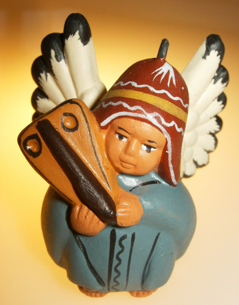 Engel aus Peru_hellblau_Ton_5cm_atalantes-spirit