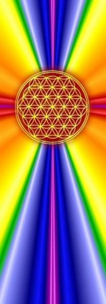 Blume des Lebens Lesezeichen | Motiv: rainbow Strahlen | designed by atalantes spirit®