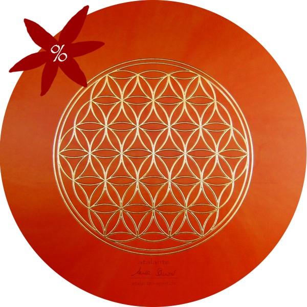 Blume des Lebens Mauspad | Farbe orange | Sakralchakra | II. Wahl | designed by atalantes spirit®