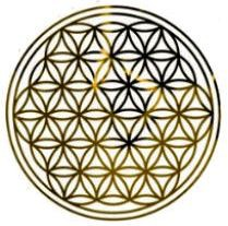 Blume des Lebens Aufkleber - Druck mit Spiegelgold auf Transparentfolie | Farbe gold | in verschiedenen Größen | designed by atalantes spirit®