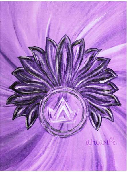 Kronenchakra_Acryl-auf-Leinwand_copyright-and-designed-by-atalantes-spirit